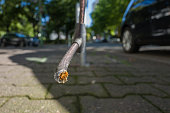 istock broken bike lock in Frankfurt 836474106