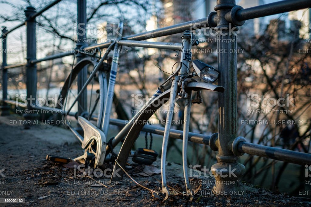 Broken Bike stock photo