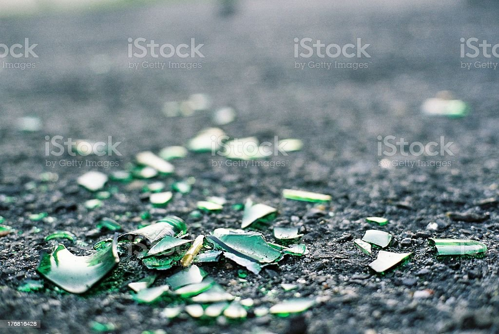 Broken bottle stock photo