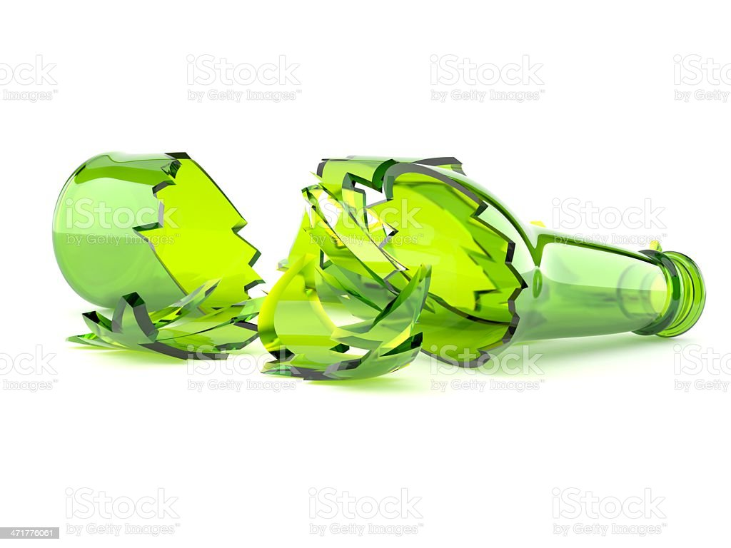 Broken bottle stock photo istock for How to break bottom of glass bottle