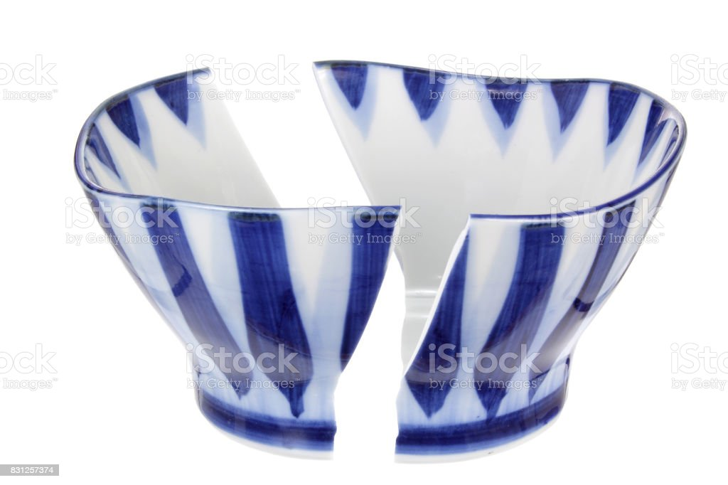 Broken Bowl stock photo