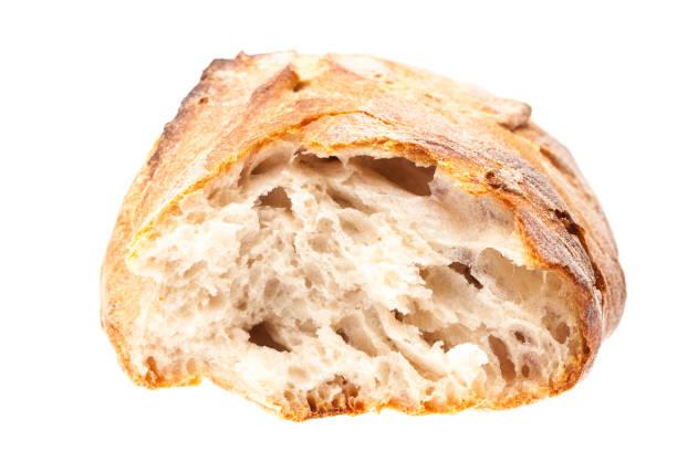 Kaputtes Brot isoliert auf weißem Hintergrund – Foto