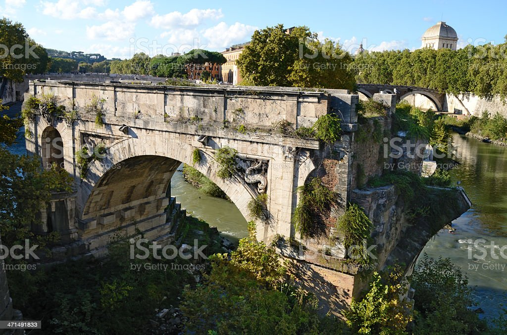 Ponte rotto in Rome royalty-free stock photo