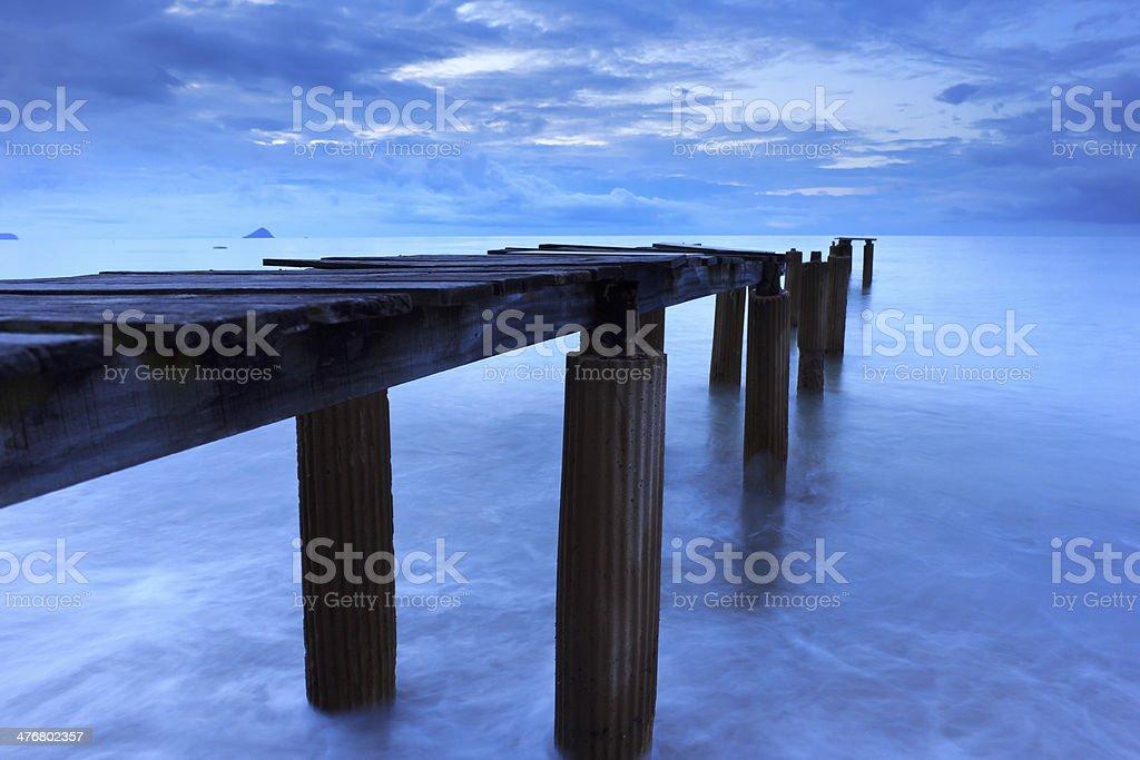 Broken bridge royalty-free stock photo