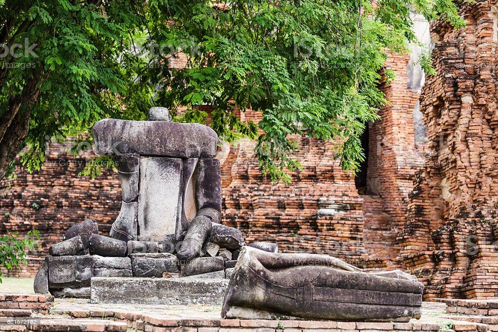 Cassé à Ayuttaya Bouddha, Thaïlande photo libre de droits