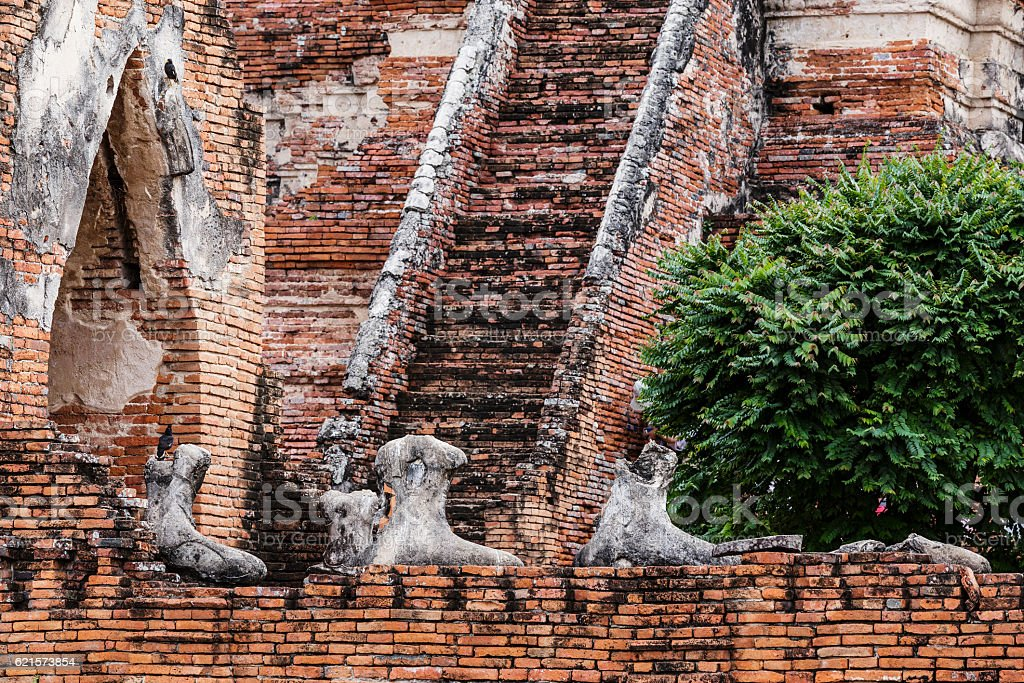 Broken buddha at Ayuttaya, Thailand photo libre de droits