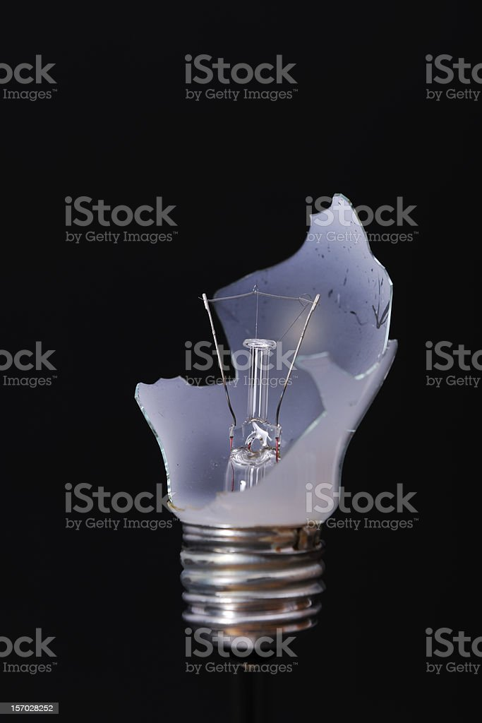 Broken bulb stock photo