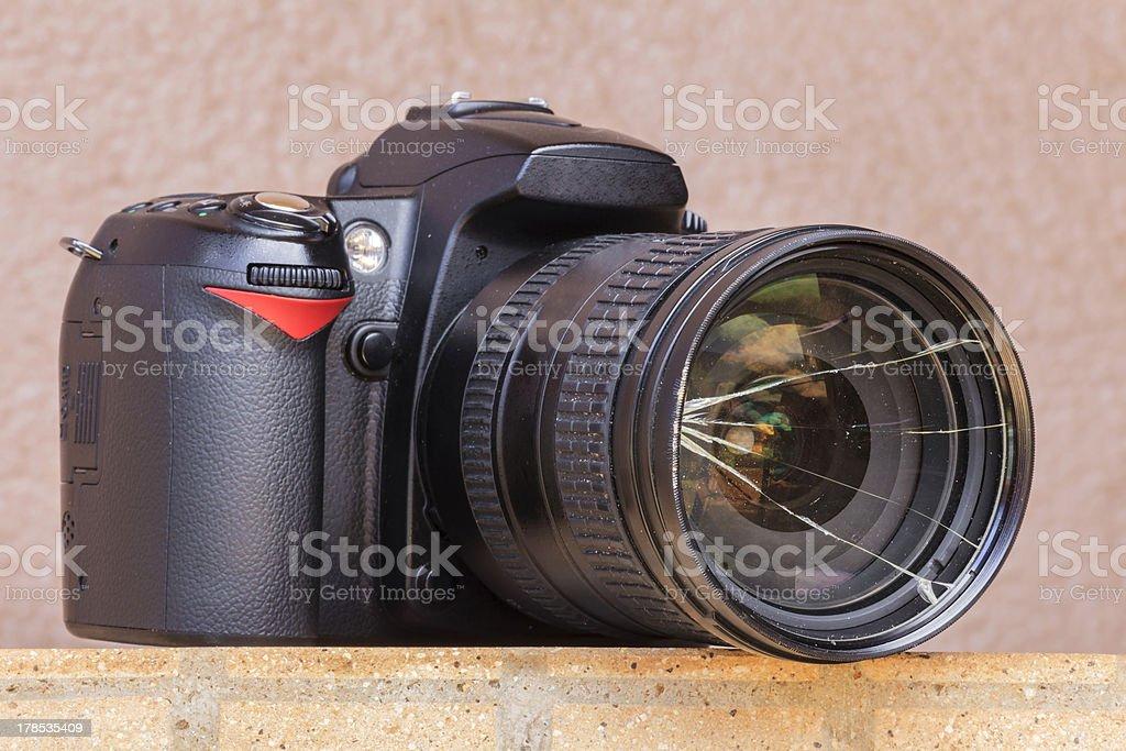 Broken camera stock photo