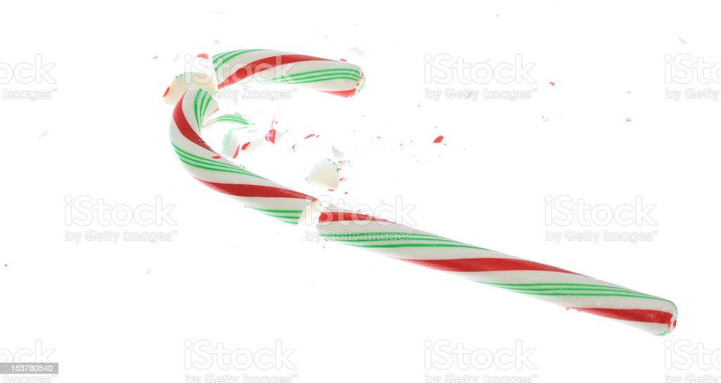 Broken Candy Cane stock photo