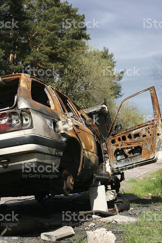 Broken car royalty-free stock photo