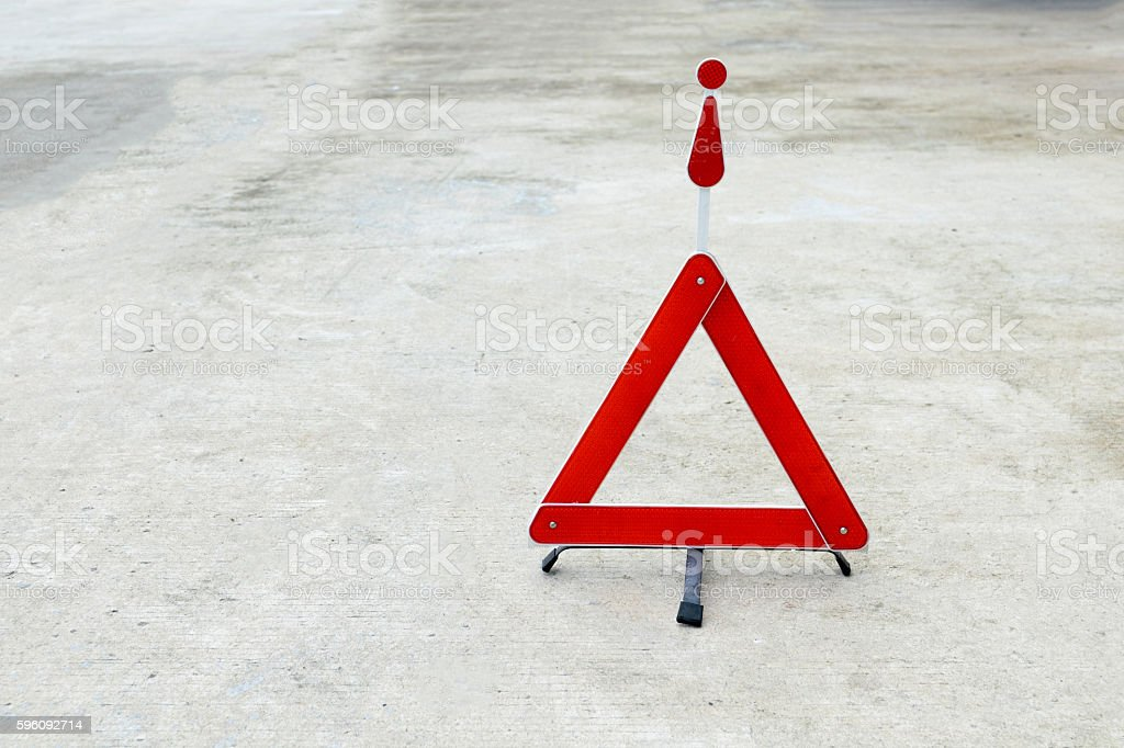 Broken car sign on a road royalty-free stock photo