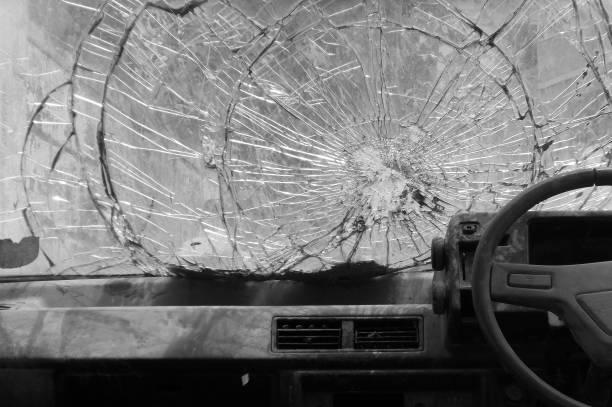 Defekte Auto Windschutzscheibe – Foto
