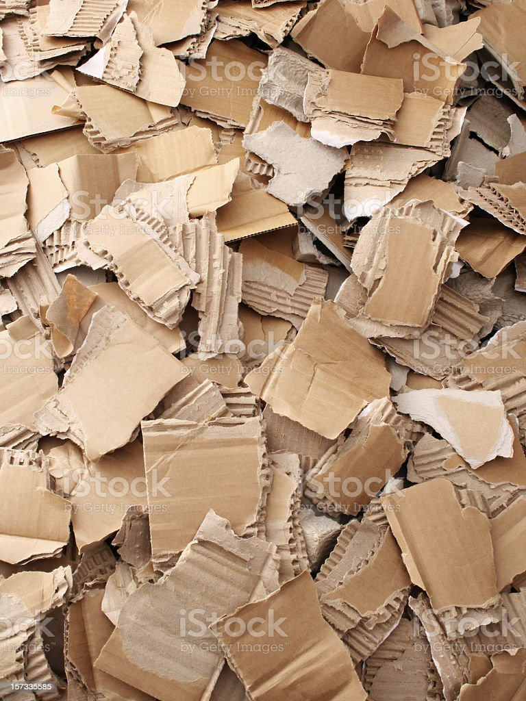 Broken cardboard background royalty-free stock photo