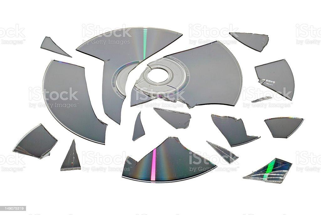 Broken CD stock photo
