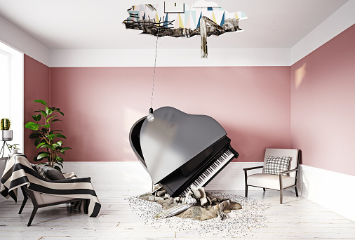 istock broken ceiling and falling piano 1164292967