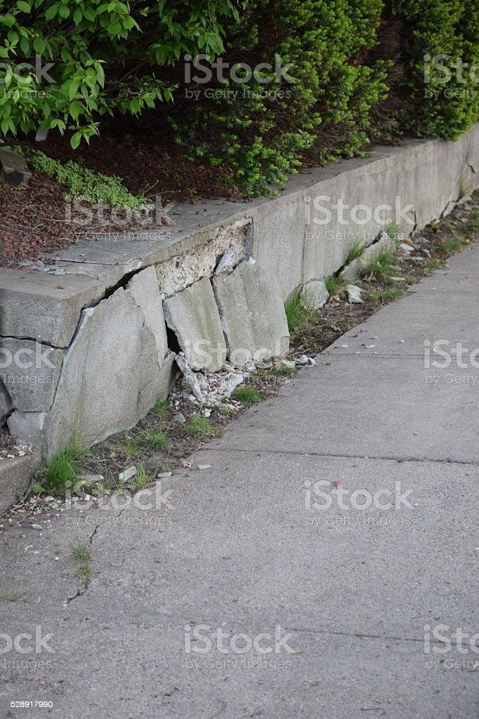 Broken Cement Retaining Wall Stock Photo Download Image Now Istock