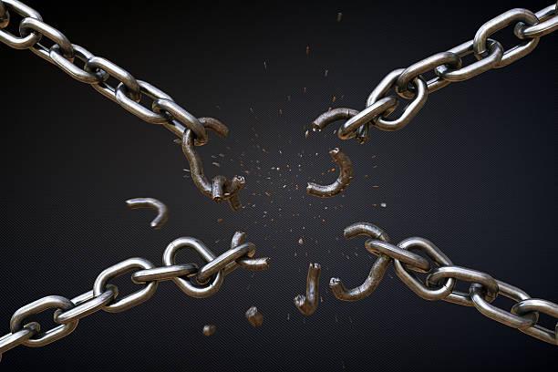 Broken Chain A04 stock photo