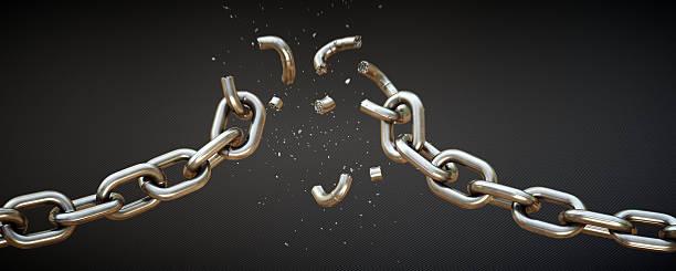 Broken Chain A11 stock photo