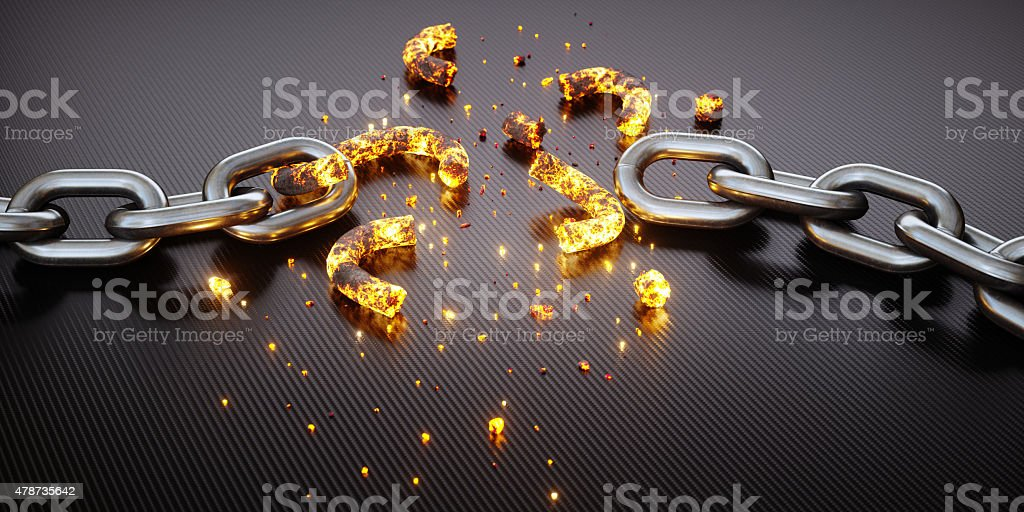 Broken Chain A12 stock photo