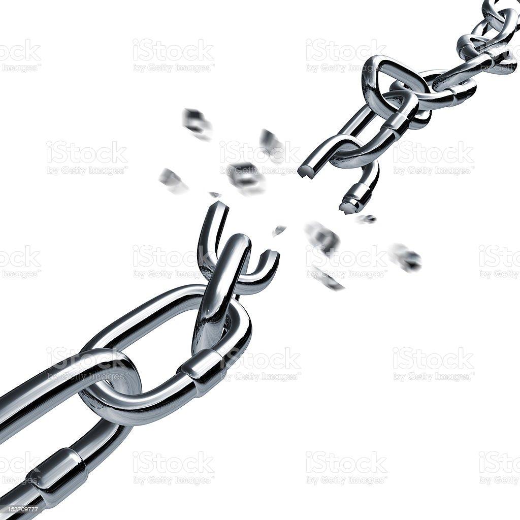 broken chain stock photo