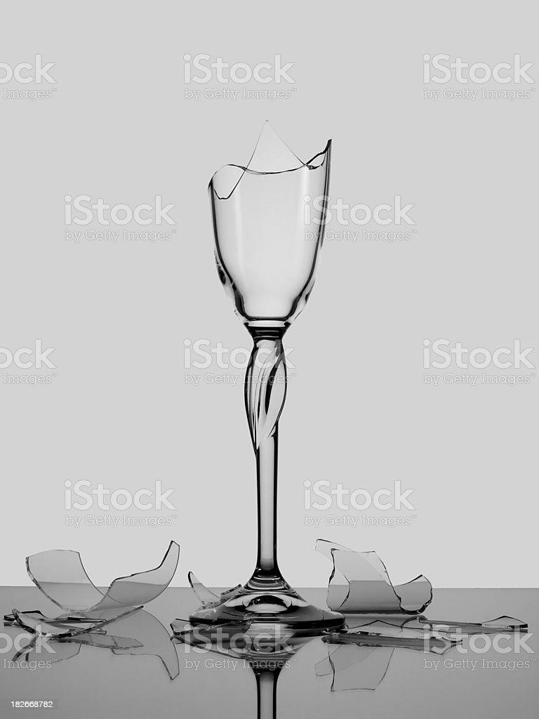 Broken Glas Champagner – Foto