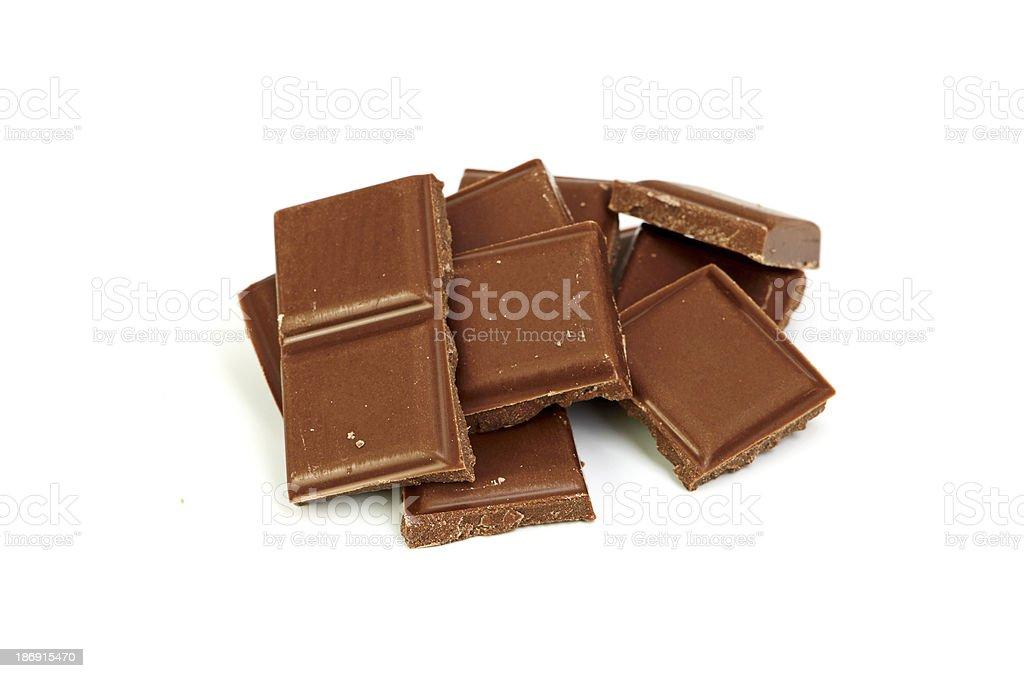 Broken chocolate bar royalty-free stock photo