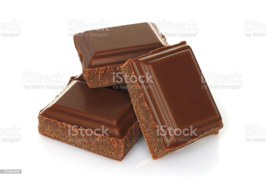 Gebrochene Schokoladen-bar – Foto