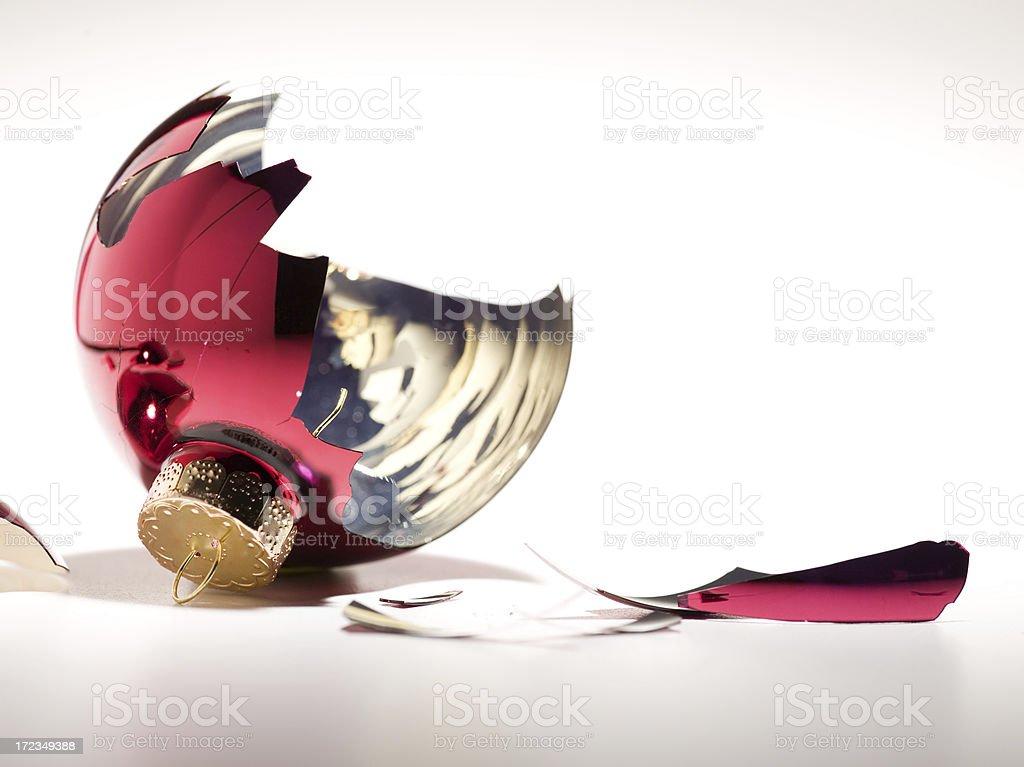 broken christmas ball royalty-free stock photo