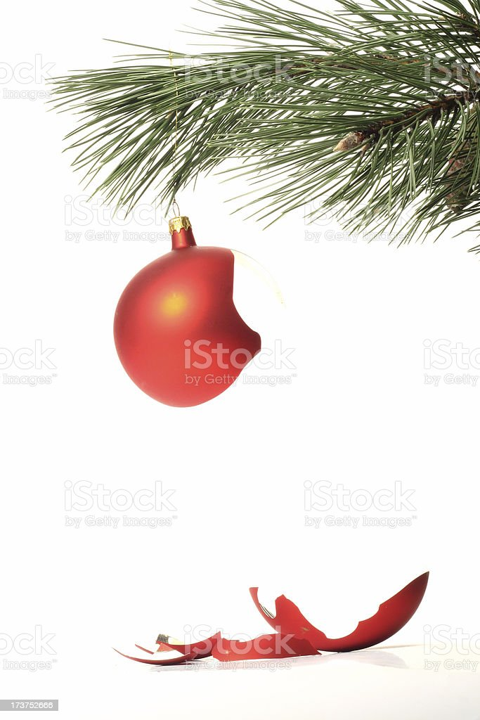 broken christmas ball #3 royalty-free stock photo