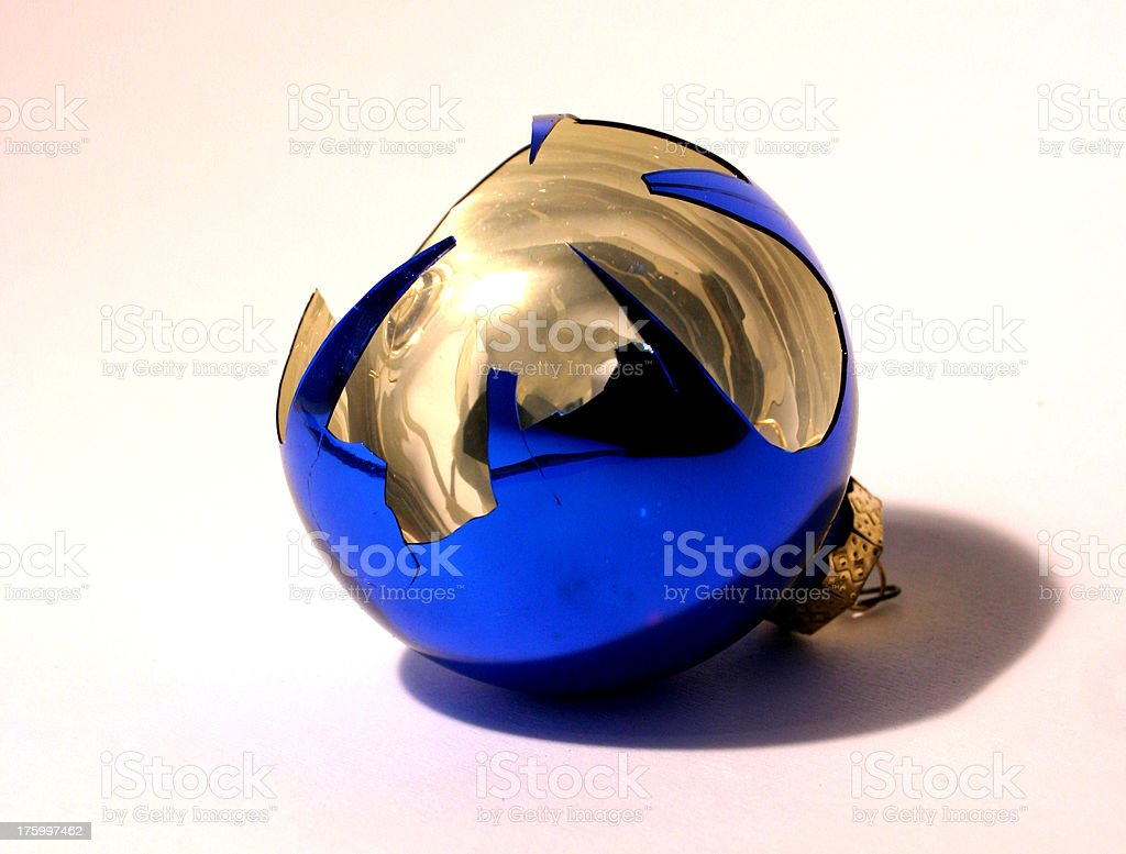Broken Christmas Ornament royalty-free stock photo