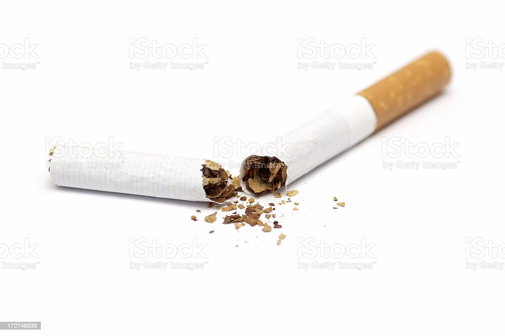 Broken cigarette royalty-free stock photo