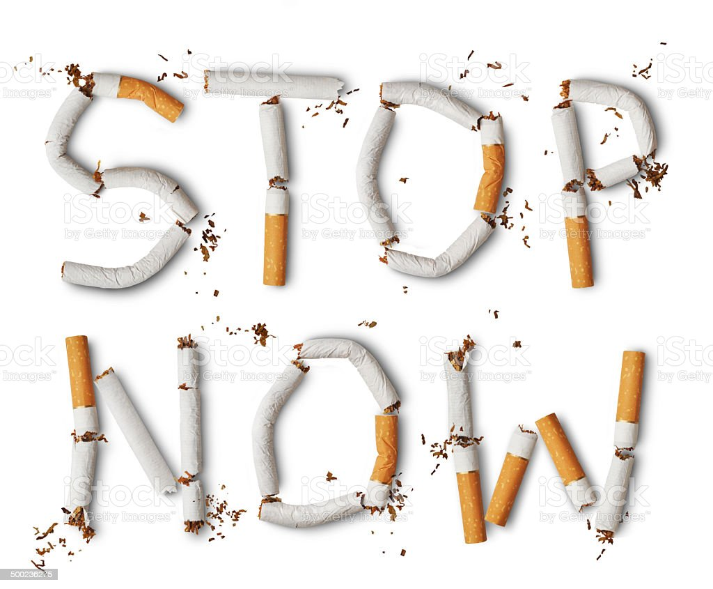 broken cigarettes royalty-free stock photo