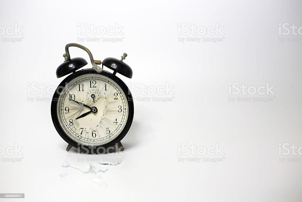 broken clock stock photo