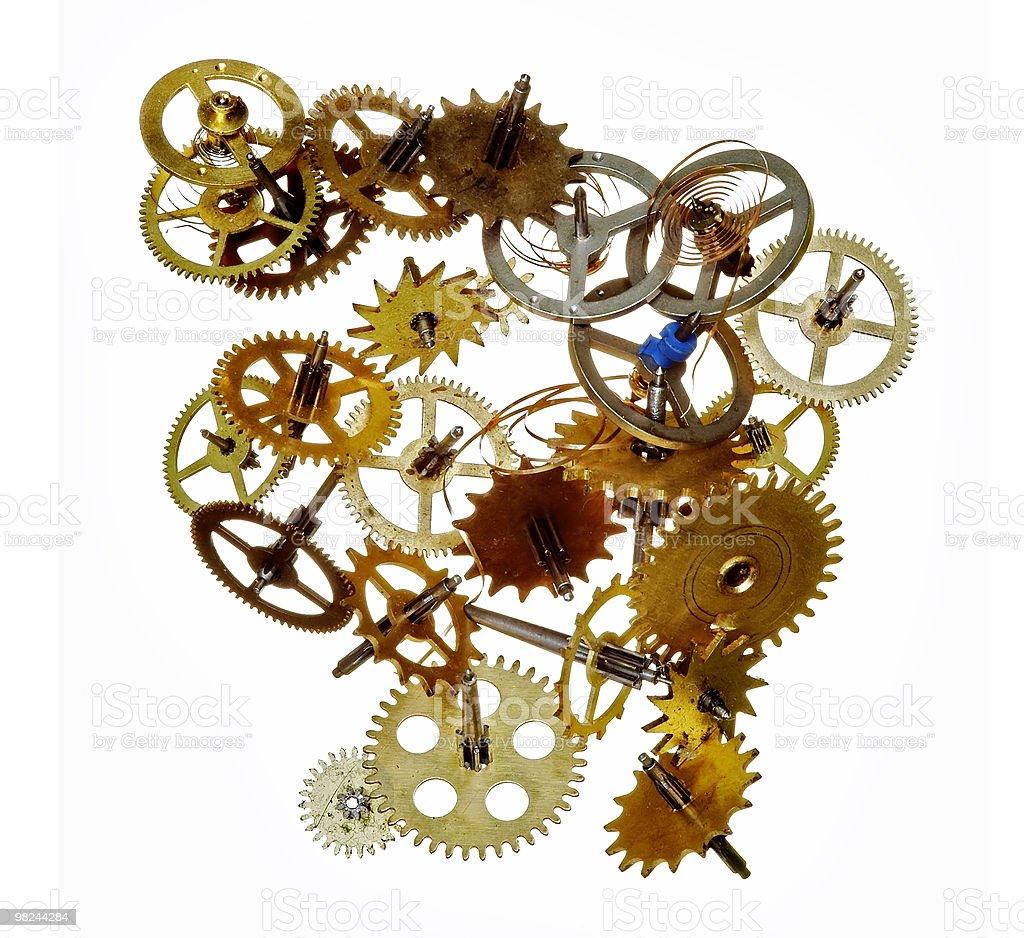 broken clockwork mechanism royalty-free stock photo