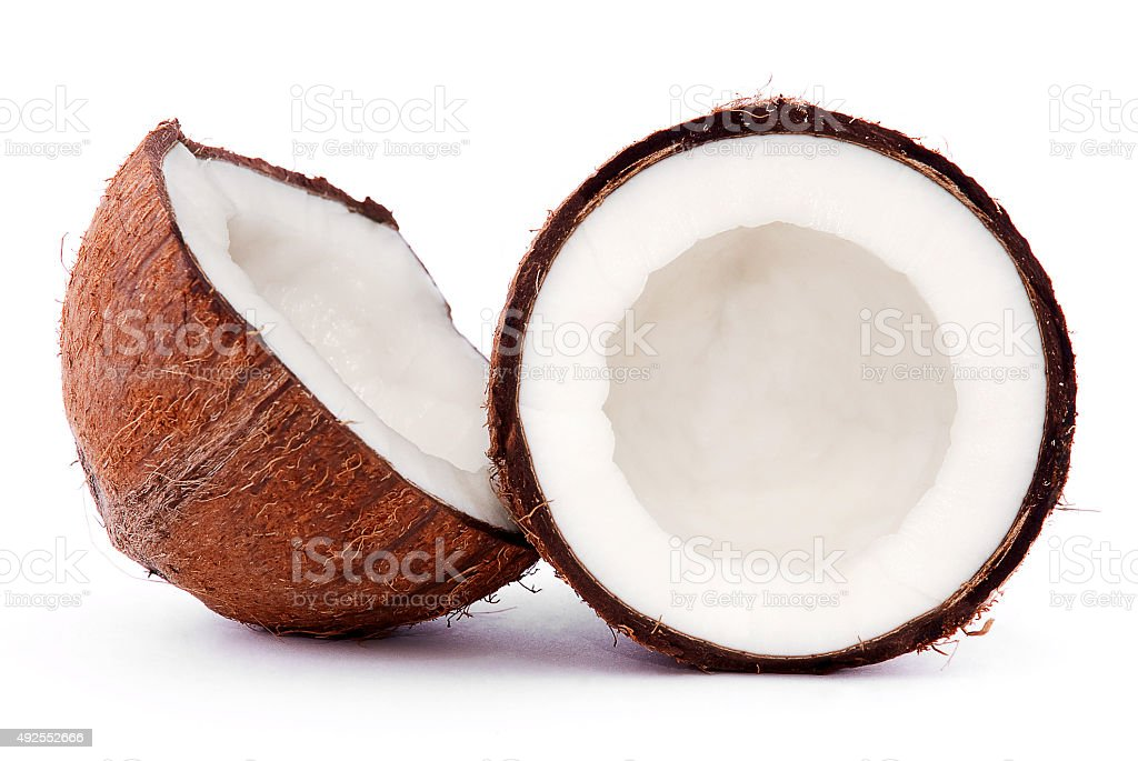 broken coconut stock photo