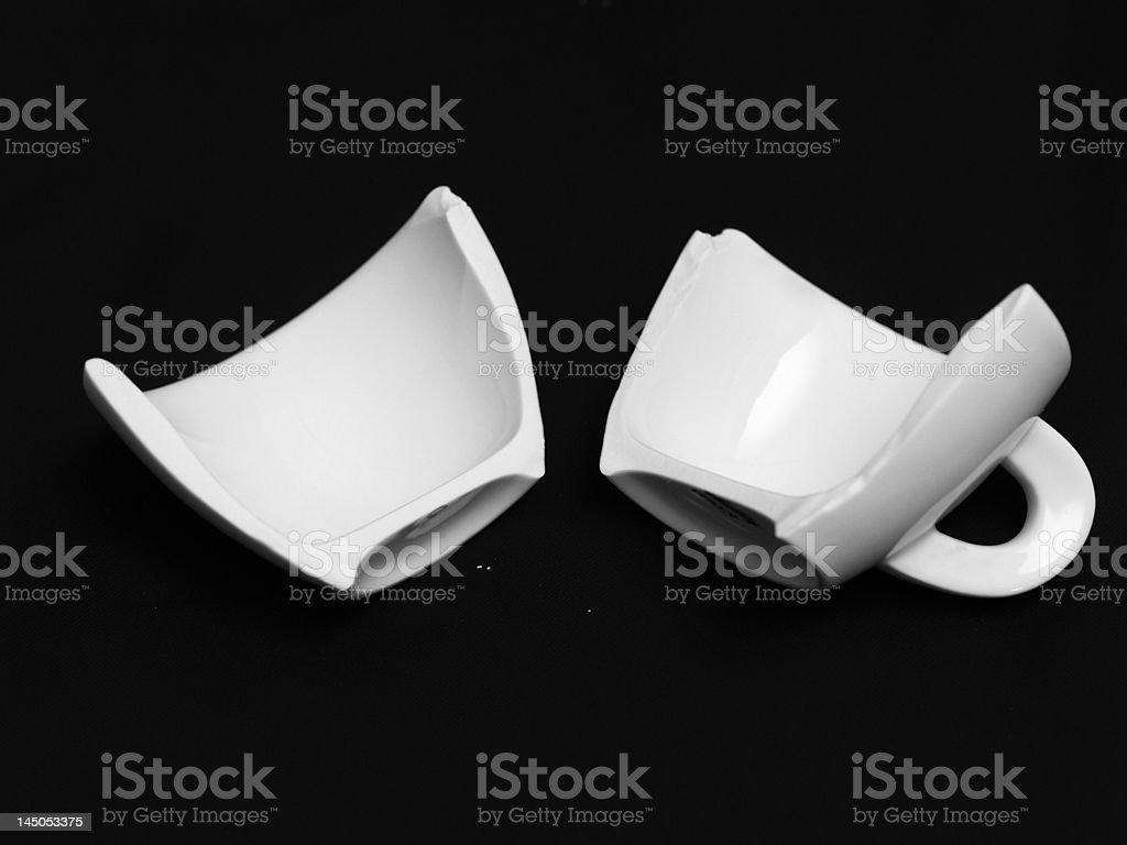 broken coffee cup royalty-free stock photo