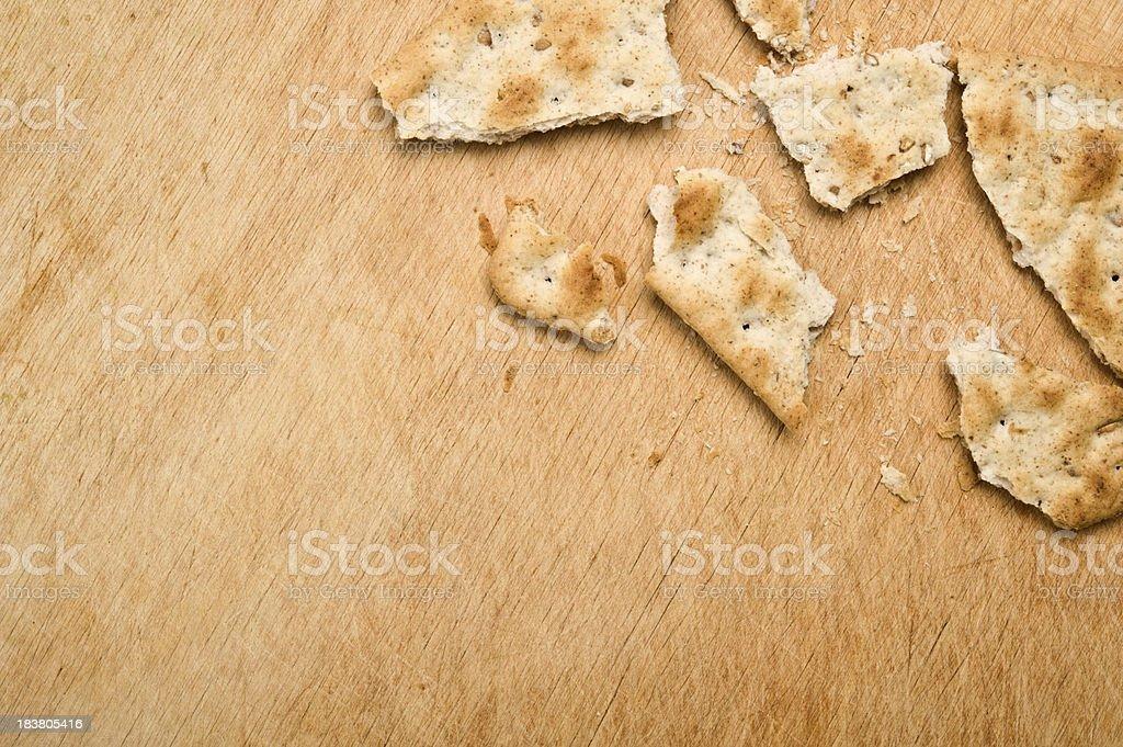 Broken cracker stock photo