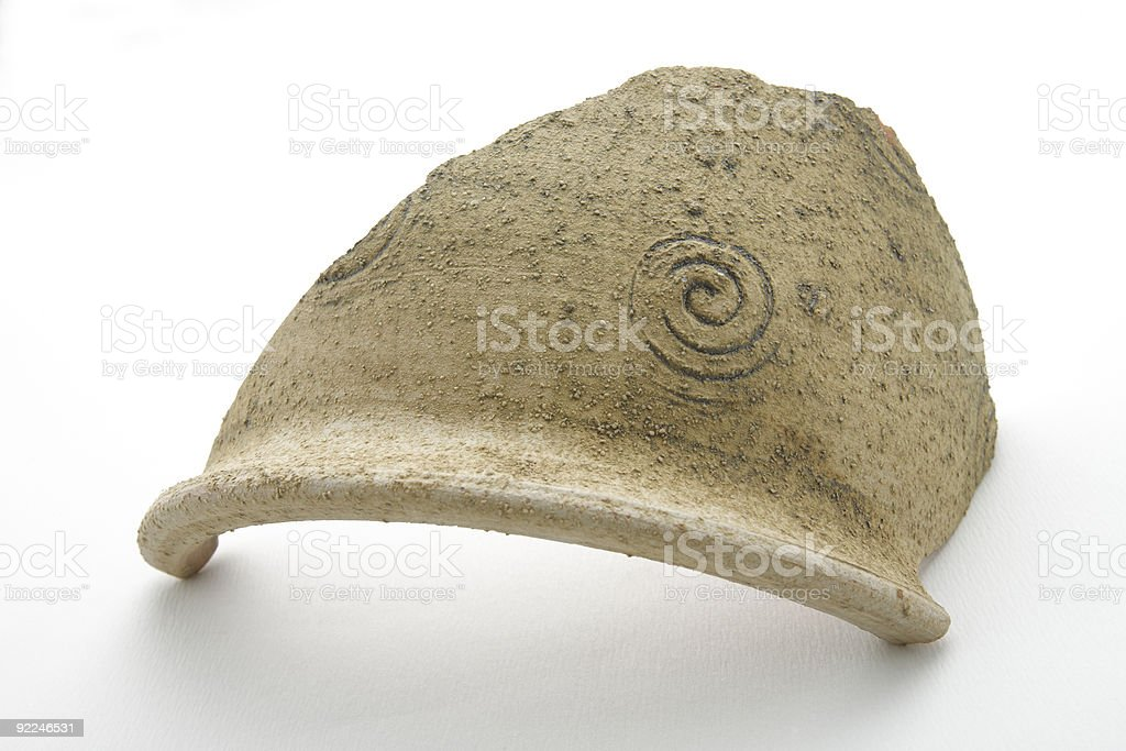Broken crock, potsherd,ceramic plant holder royalty-free stock photo