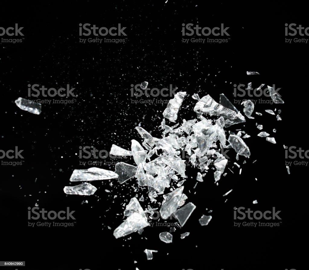 broken crystal exploding stock photo