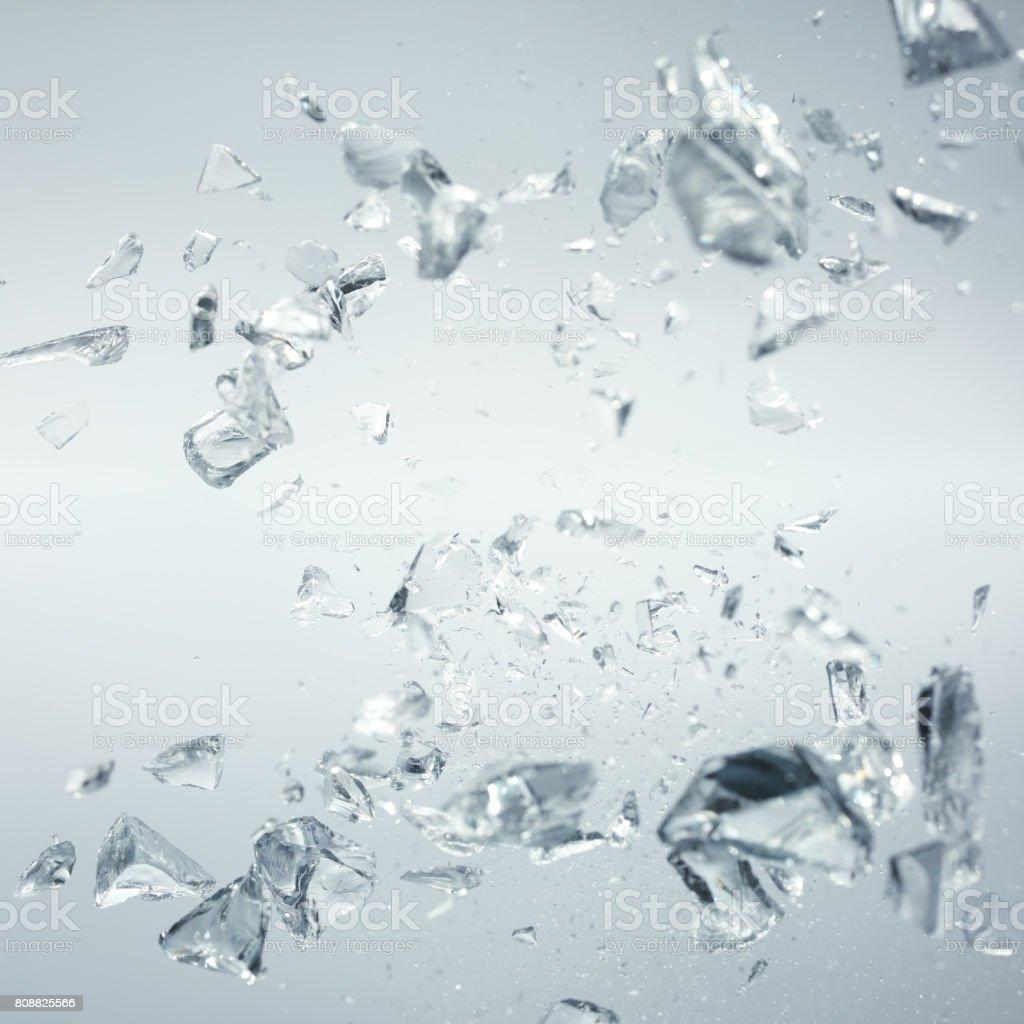 broken crystals in motion stock photo