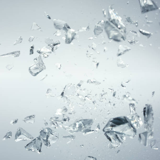 broken crystals in motion stock photo