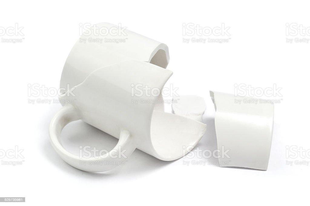 broken cup stock photo
