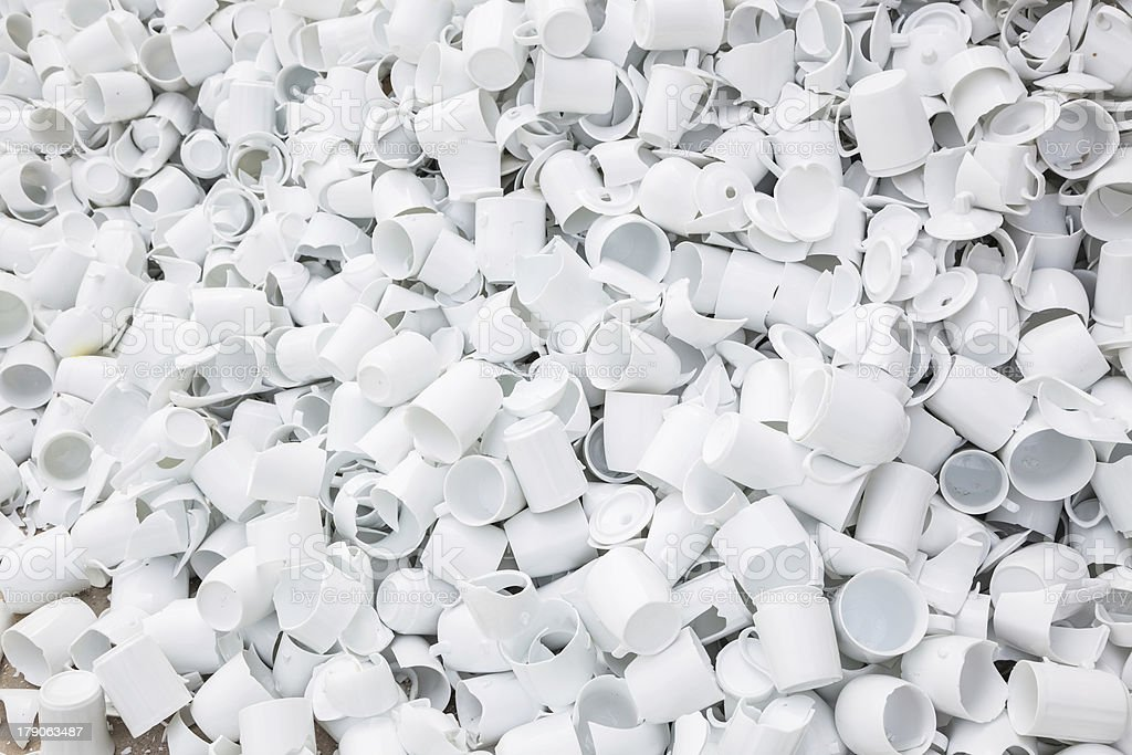 broken cup stacked together royalty-free stock photo