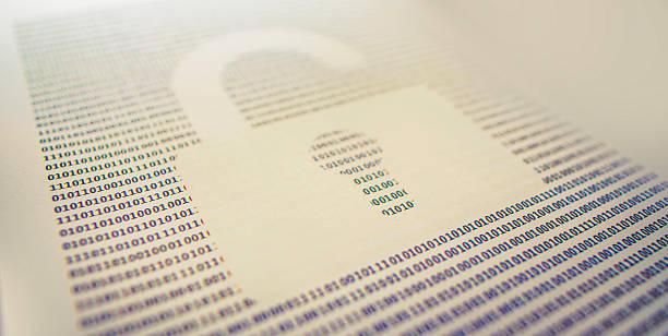 broken data security stock photo