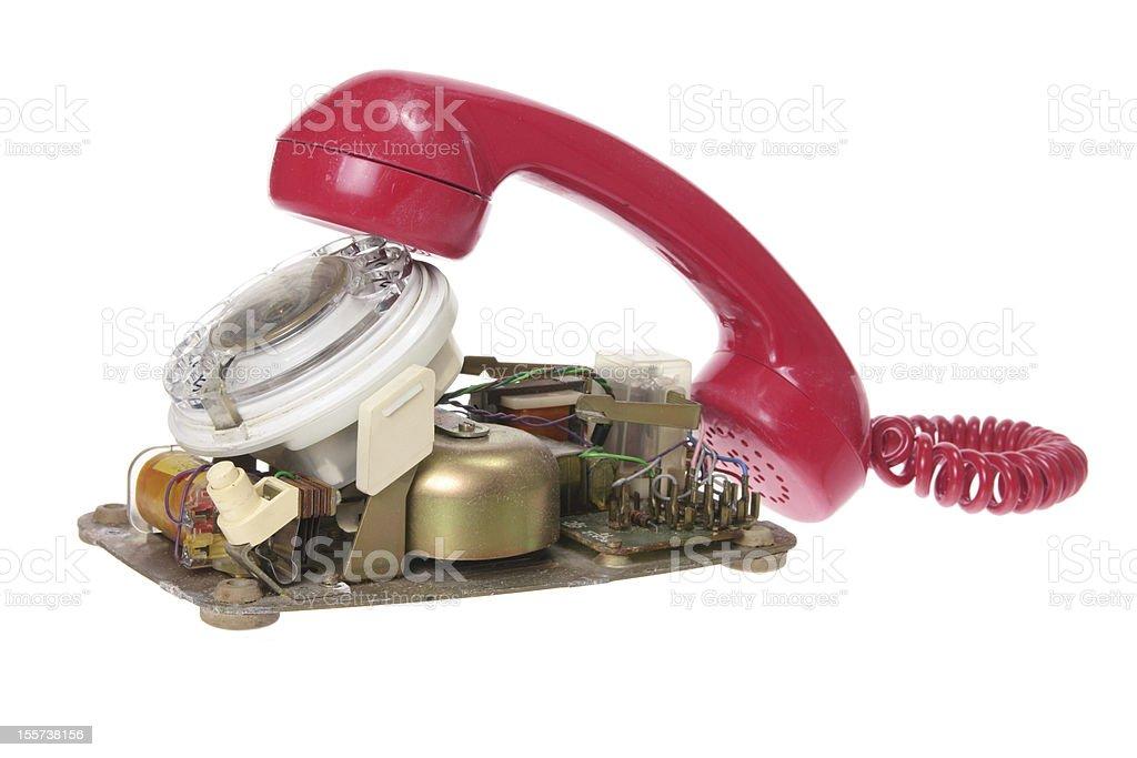 Broken Dial Phone royalty-free stock photo