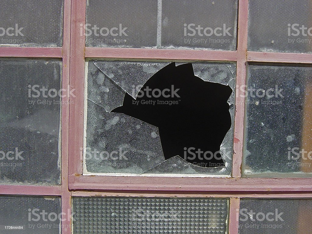 Broken Dirty Window royalty-free stock photo