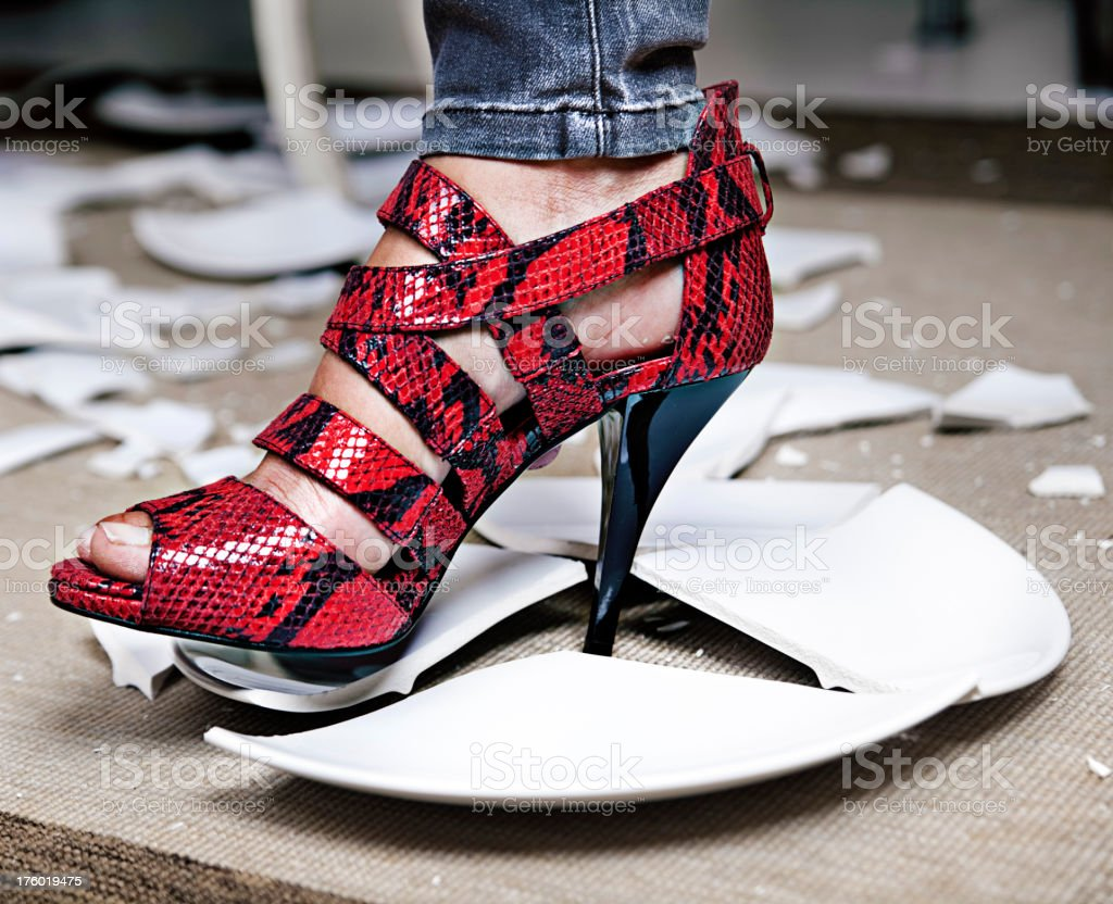 broken dish stock photo