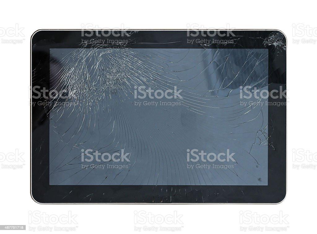 Broken display stock photo