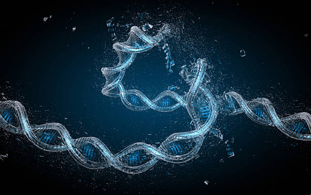Broken DNA String stock photo