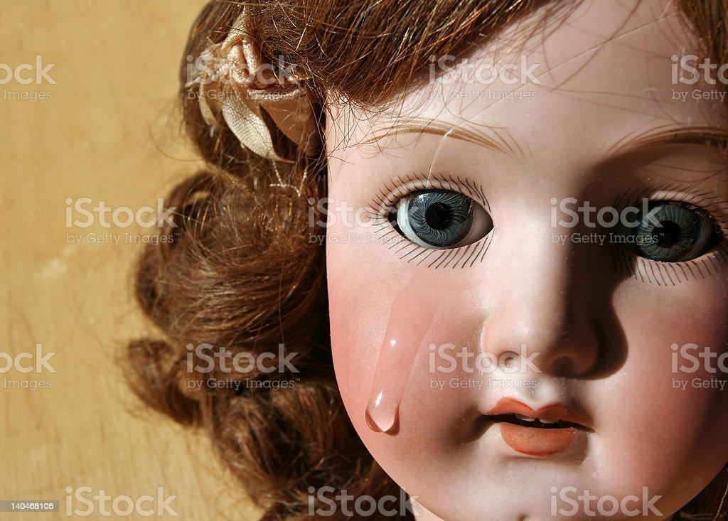 Broken Doll Face stock photo